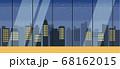 【背景素材】シームレス ガラス張りのモダンな都会のオフィス、マンション 横方向に繋げられるシームレス 68162015