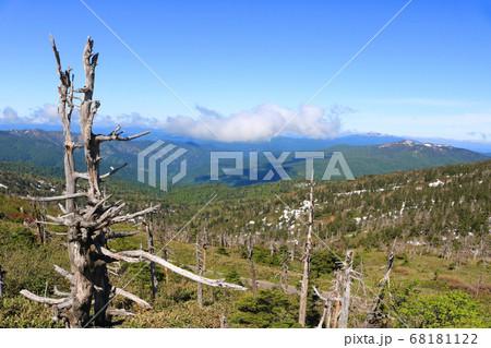 八幡平山頂駐車場展望所からの眺望 68181122