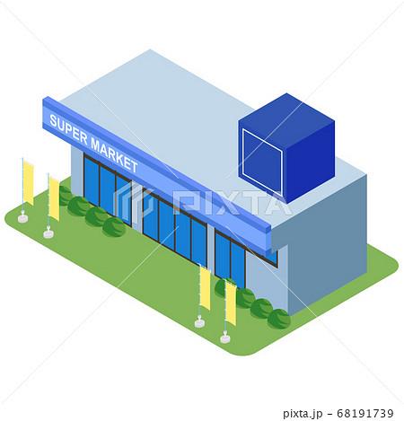 スーパーマーケット 68191739