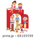 本が大好きな家族 68193599