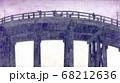下から見上げた明治時代の夕暮れの橋 68212636