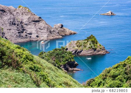 (静岡県)あいあい岬から望む、ヒリゾ海岸 68219803