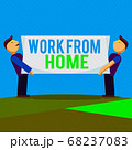 Conceptual hand writing showing Work From Home 68237083