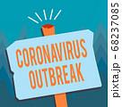 Conceptual hand writing showing Coronavirus 68237085