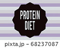 Text sign showing Protein Diet. Conceptual photo 68237087