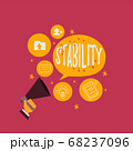 Text sign showing Stability. Conceptual photo 68237096