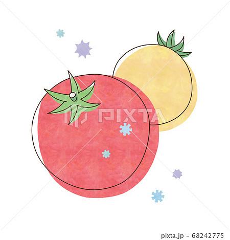 赤色と黄色のトマトとウィルス 68242775