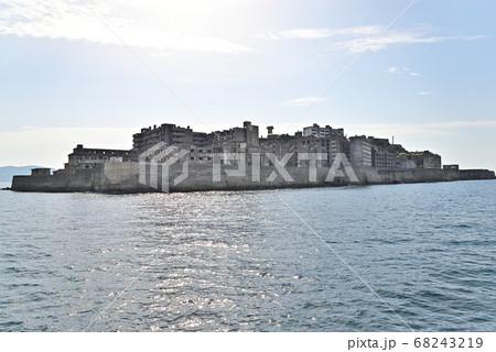 長崎県にある世界文化遺産、軍艦島(端島) 68243219