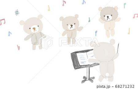 くまさんの合唱イラスト 68271232