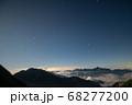 唐松岳から望む夜の劔岳と夏の星座 68277200