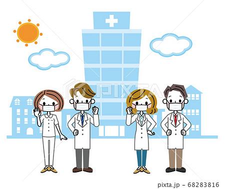 医療従業者 グループ マスク 68283816