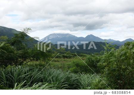 日本の岡山の蒜山高原から見た鳥取の大山 68308854