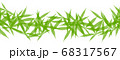 Banner with green cannabis leaves. Garland made 68317567