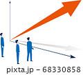伸びるグラフとビジネスチームのイメージ 68330858
