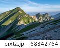 唐松岳頂上山荘から望む朝の唐松岳と不帰ノ嶮 68342764