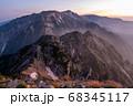 唐松岳頂上から望む白馬三山・不帰ノ嶮 68345117