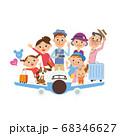 飛行機 旅行 三世代家族 楽しみ ライフスタイル 68346627