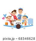 飛行機 旅行 家族 楽しみ ライフスタイル 68346628