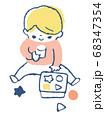 おもちゃで遊ぶ赤ちゃん 68347354