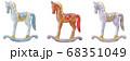 クリスマス 木馬 飾り オーナメント 68351049