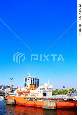 名古屋市、名古屋港に係留されている南極観測船ふじ 68356538