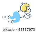 ハイハイする赤ちゃん 68357973