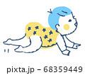 ハイハイする赤ちゃん 68359449