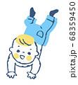 ハイハイする赤ちゃん 68359450