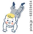 ハイハイする赤ちゃん 68359454
