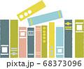 12冊の並んだ本 68373096