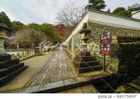 奈良 秋の長谷寺、下登廊から見る本坊大講堂への参道 68375697