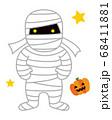 ミイラ男 ハロウィンのモンスターのイラスト 68411881