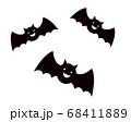 コウモリ ハロウィンのイラスト 68411889