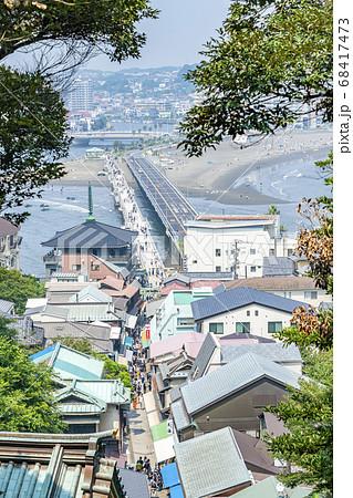 【神奈川県】江島神社から見下ろした江ノ島の街並み 68417473