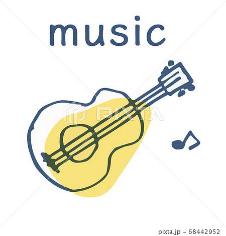 ギターと音符 テキスト 68442952