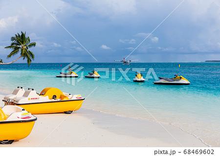 モルディブの水上リゾート 68469602