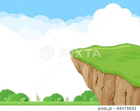 崖のイラスト_風景 68478692