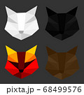 Set of cat polygon geometric. Vector illustration. 68499576