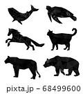 Set of polygon geometric animal. Vector illustration. 68499600