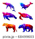Set of polygon geometric animal. Vector illustration. 68499603
