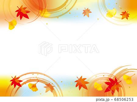秋の紅葉の背景素材 68506253