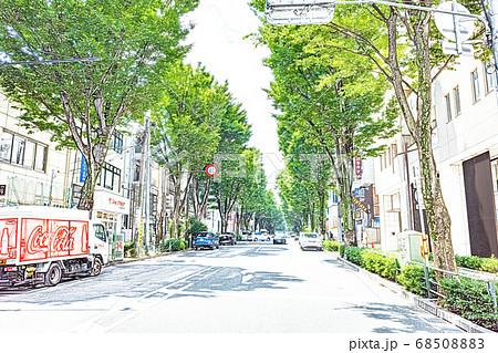 【都市風景】阿佐ヶ谷 中杉通り【色鉛筆】 68508883