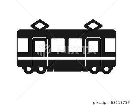 電車のシルエットアイコン 68513757