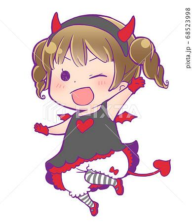 ハロウィン仮装の女の子_小悪魔 68523998