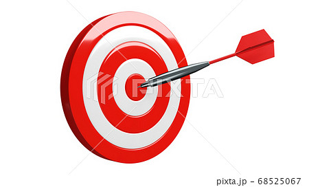 Red dart arrow hits target. 68525067