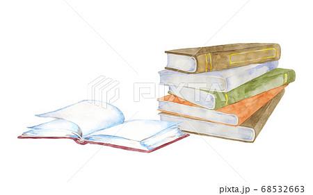 本の水彩イラスト 68532663