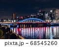 ライトアップの駒形橋と隅田川 東京夜景 68545260