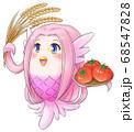 豊作がうれしいアマビエちゃん 68547828