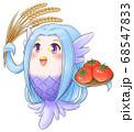 豊作がうれしいアマビエくん 68547833