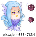 疫病菌をにらむアマビエくん 68547834